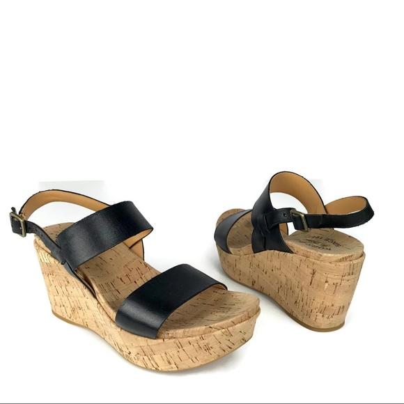 b9514eab746 Kork-Ease Shoes - Kork Ease Black Austin Wedge Cork Sandals